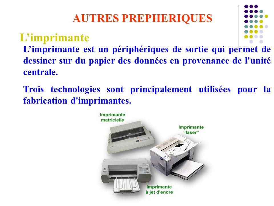 L'imprimante AUTRES PREPHERIQUES
