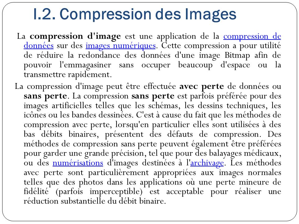 I.2. Compression des Images