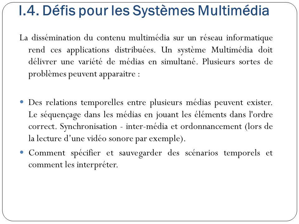I.4. Défis pour les Systèmes Multimédia