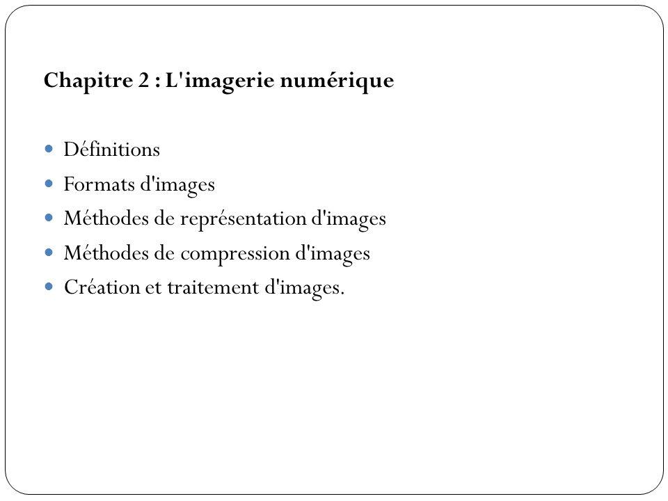 Chapitre 2 : L imagerie numérique