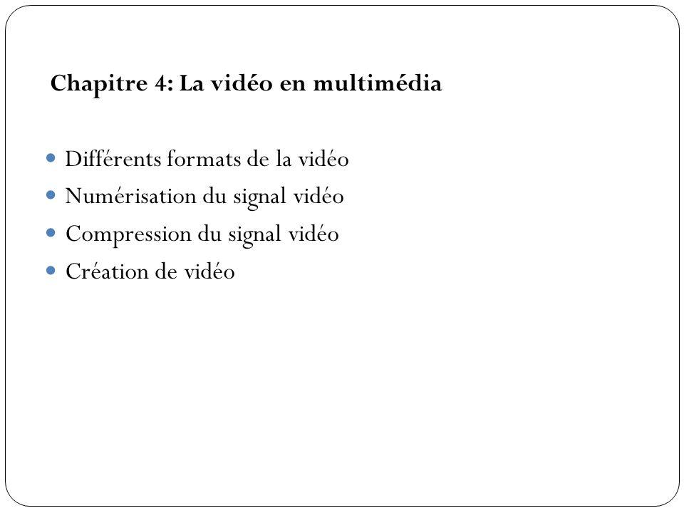 Chapitre 4: La vidéo en multimédia