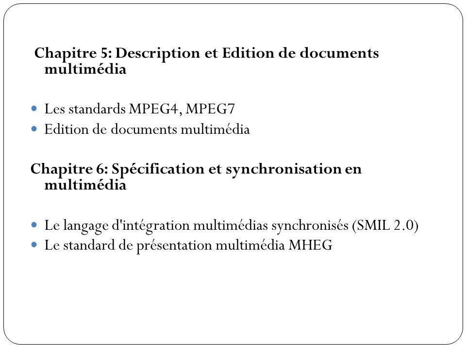 Chapitre 5: Description et Edition de documents multimédia