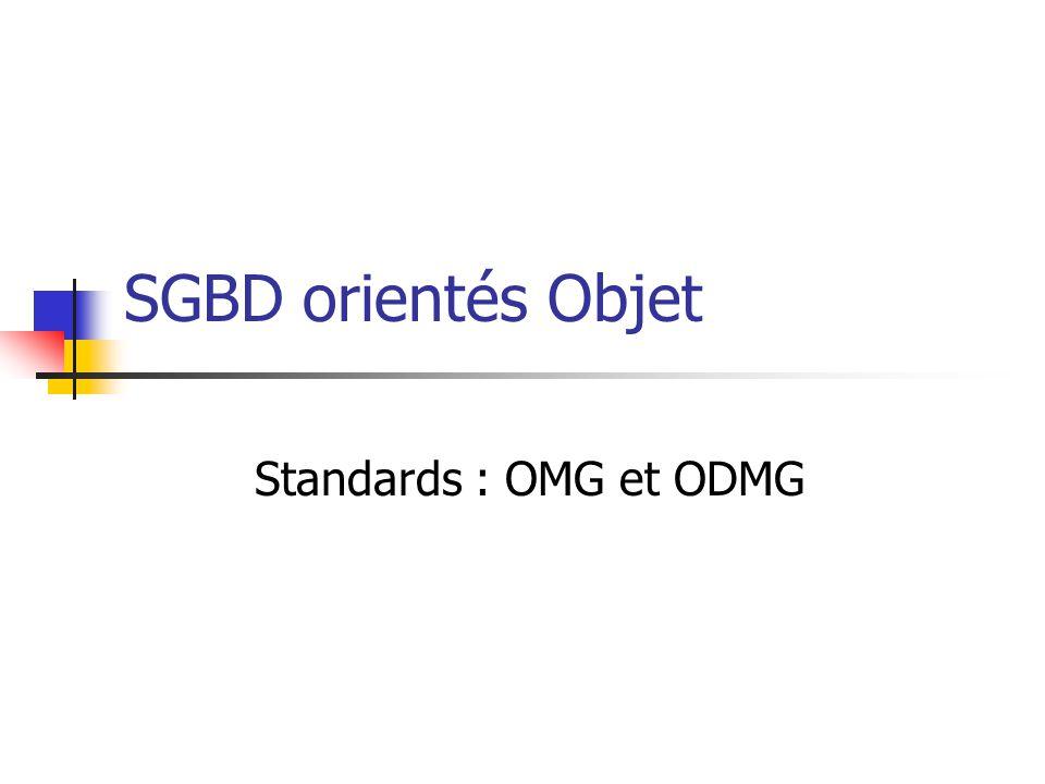 SGBD orientés Objet Standards : OMG et ODMG