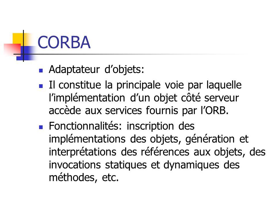 CORBA Adaptateur d'objets: