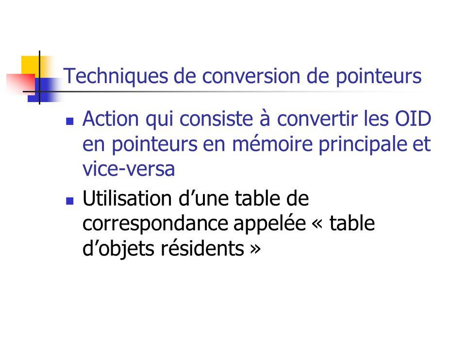 Techniques de conversion de pointeurs