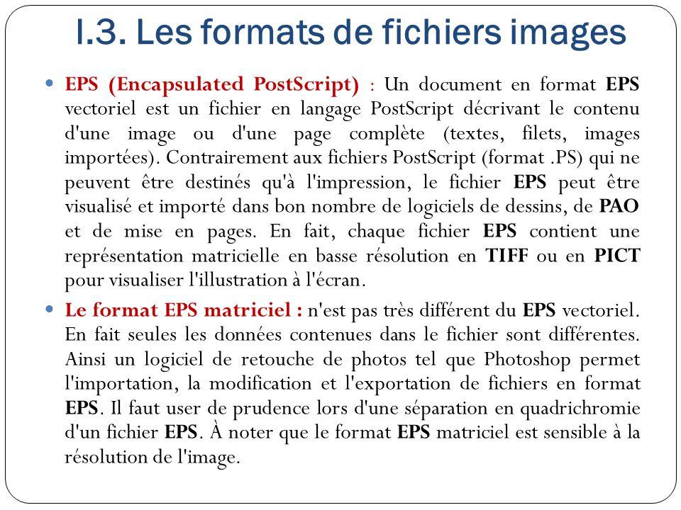 I.3. Les formats de fichiers images
