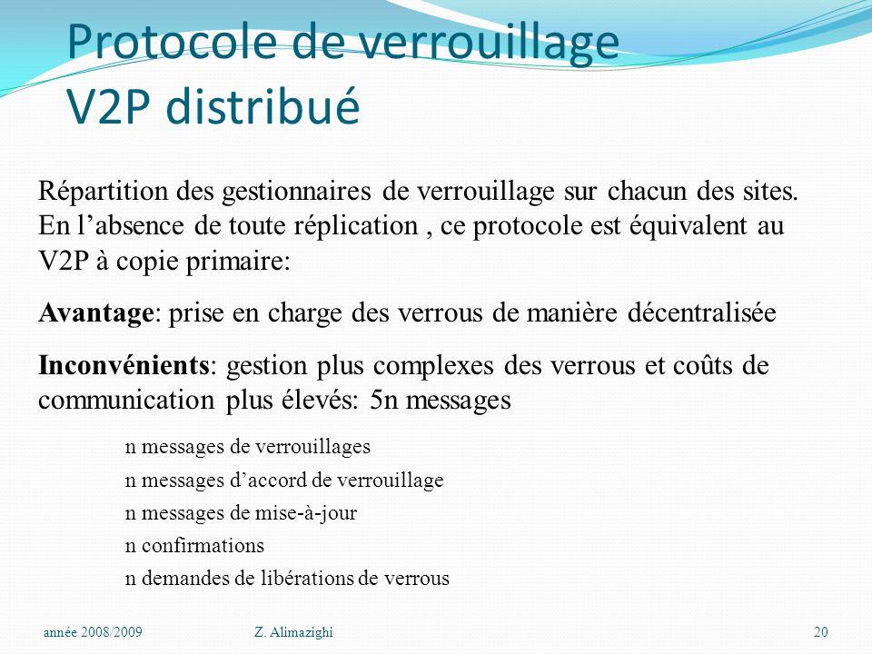 Protocole de verrouillage V2P distribué