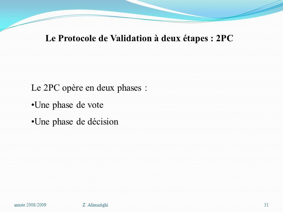 Le Protocole de Validation à deux étapes : 2PC