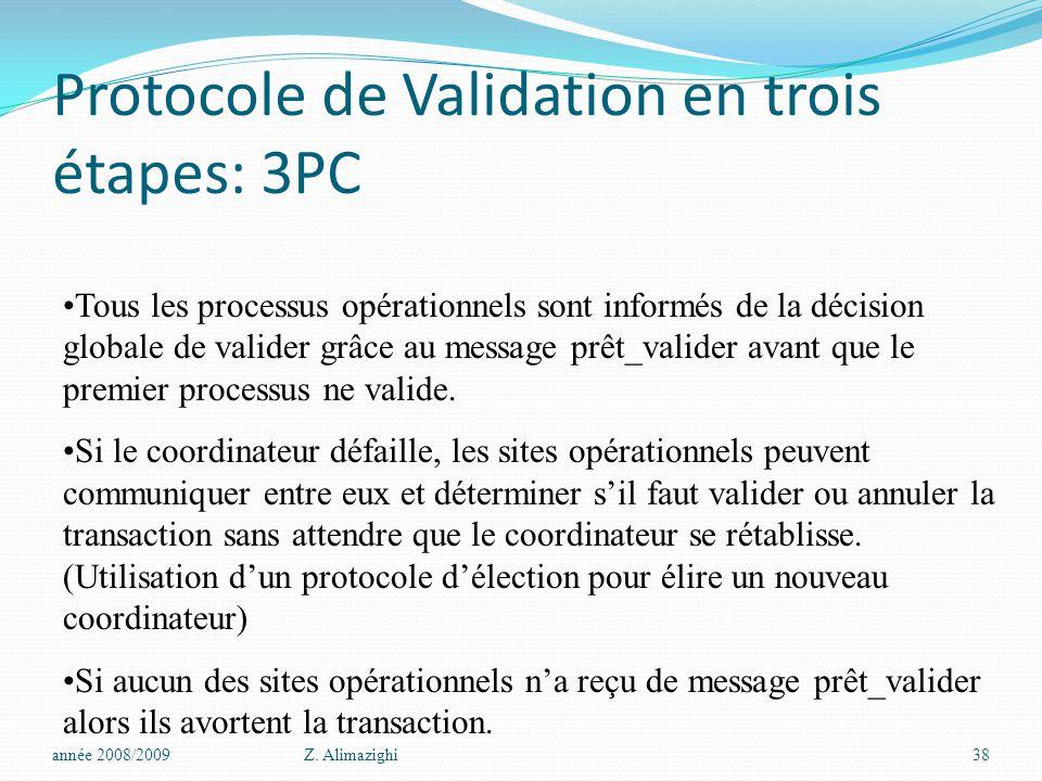 Protocole de Validation en trois étapes: 3PC