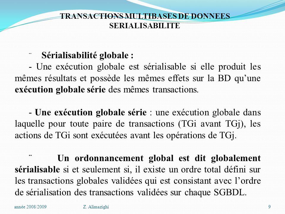 TRANSACTIONS MULTIBASES DE DONNEES