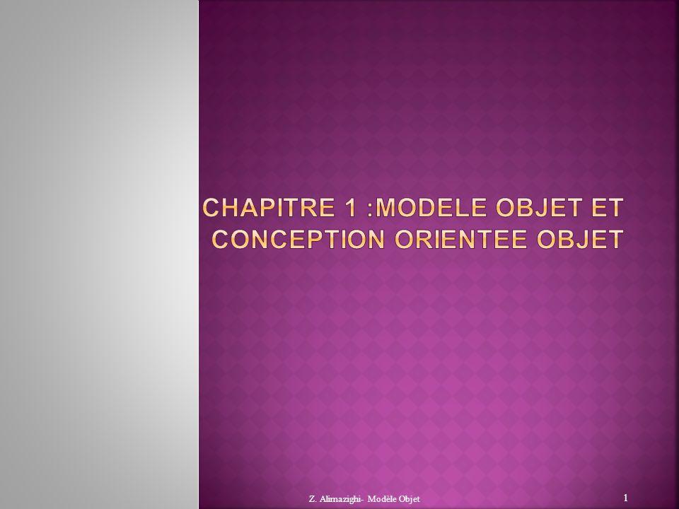 Chapitre 1 :MODELE OBJET ET CONCEPTION ORIENTEE OBJET