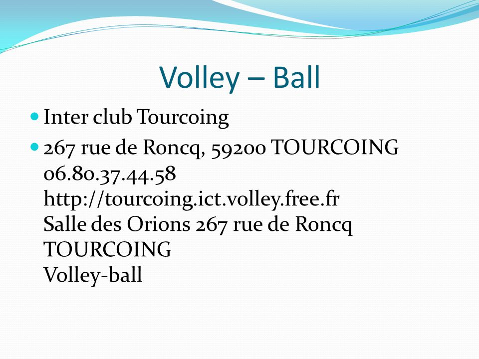 Volley – Ball Inter club Tourcoing