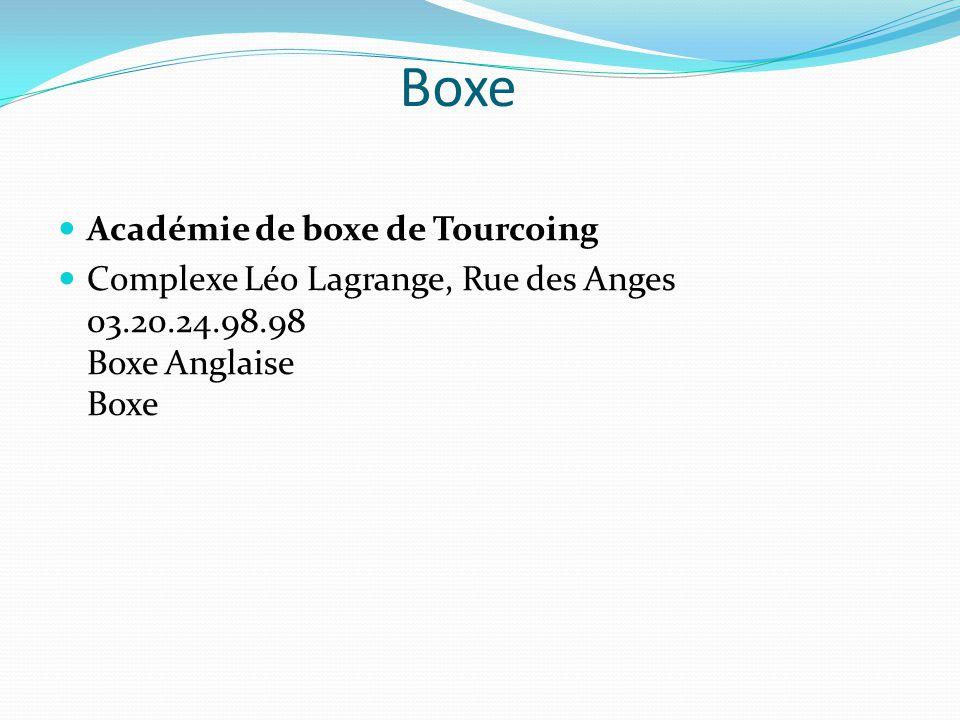 Boxe Académie de boxe de Tourcoing
