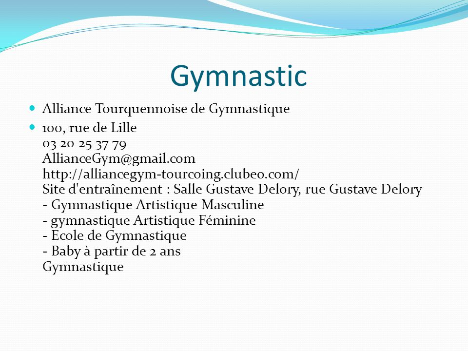 Gymnastic Alliance Tourquennoise de Gymnastique