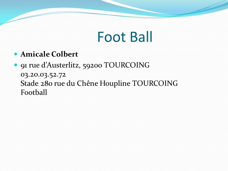 Foot Ball Amicale Colbert