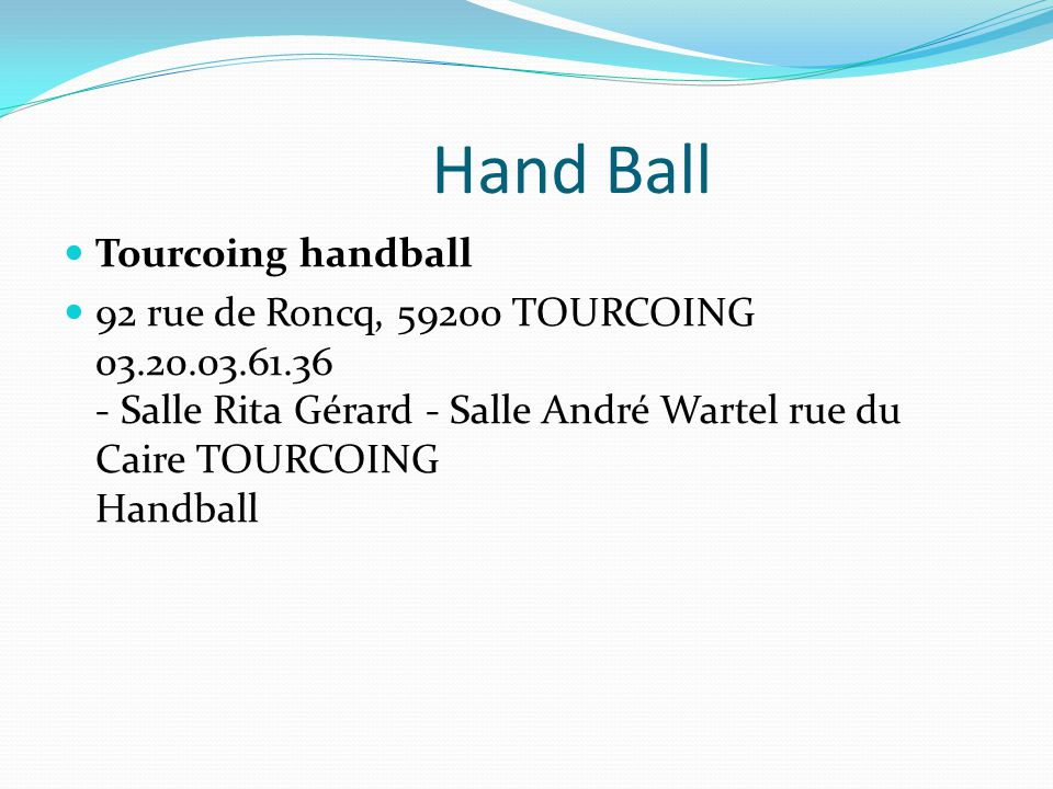 Hand Ball Tourcoing handball