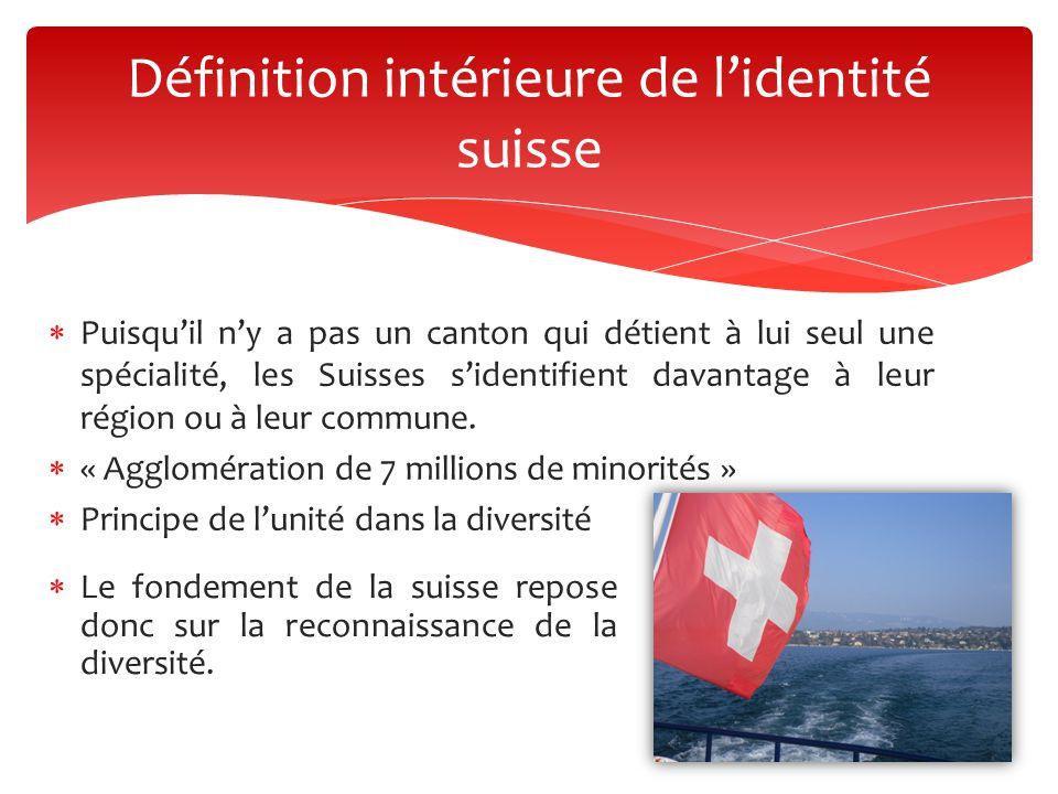 Définition intérieure de l'identité suisse