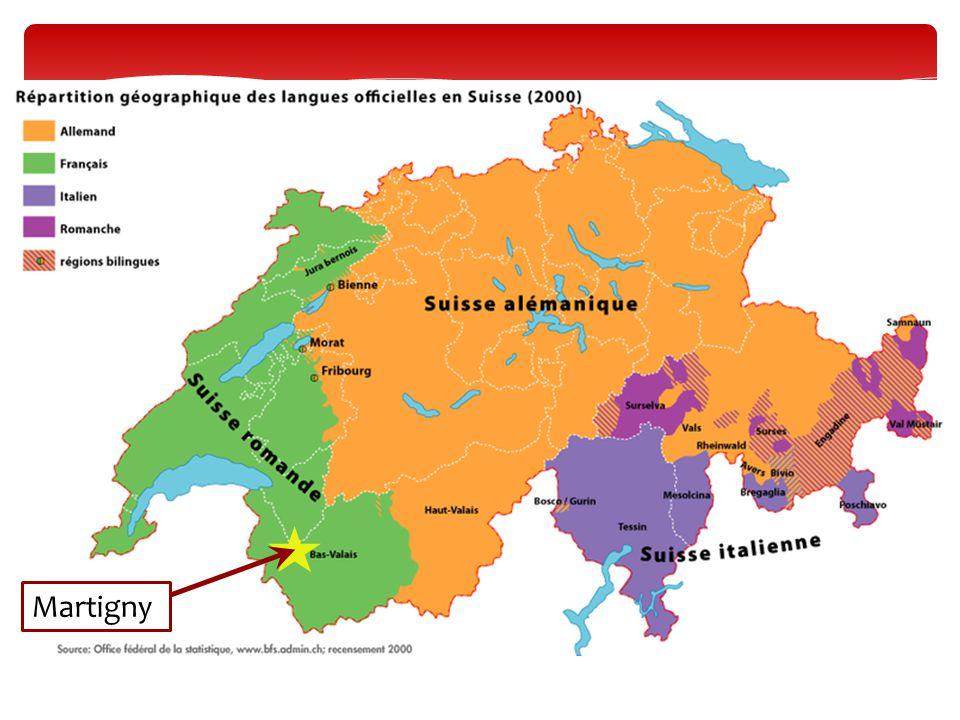 Martigny est en Suisse romande.
