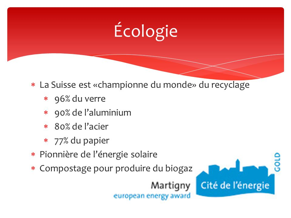 Écologie La Suisse est «championne du monde» du recyclage 96% du verre