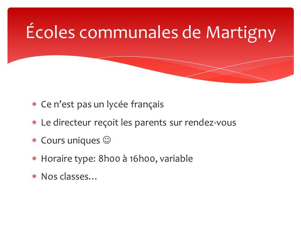 Écoles communales de Martigny