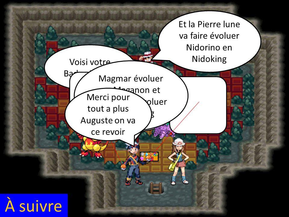 À suivre Magmariseur va faire évoluer Magmar en Maganon