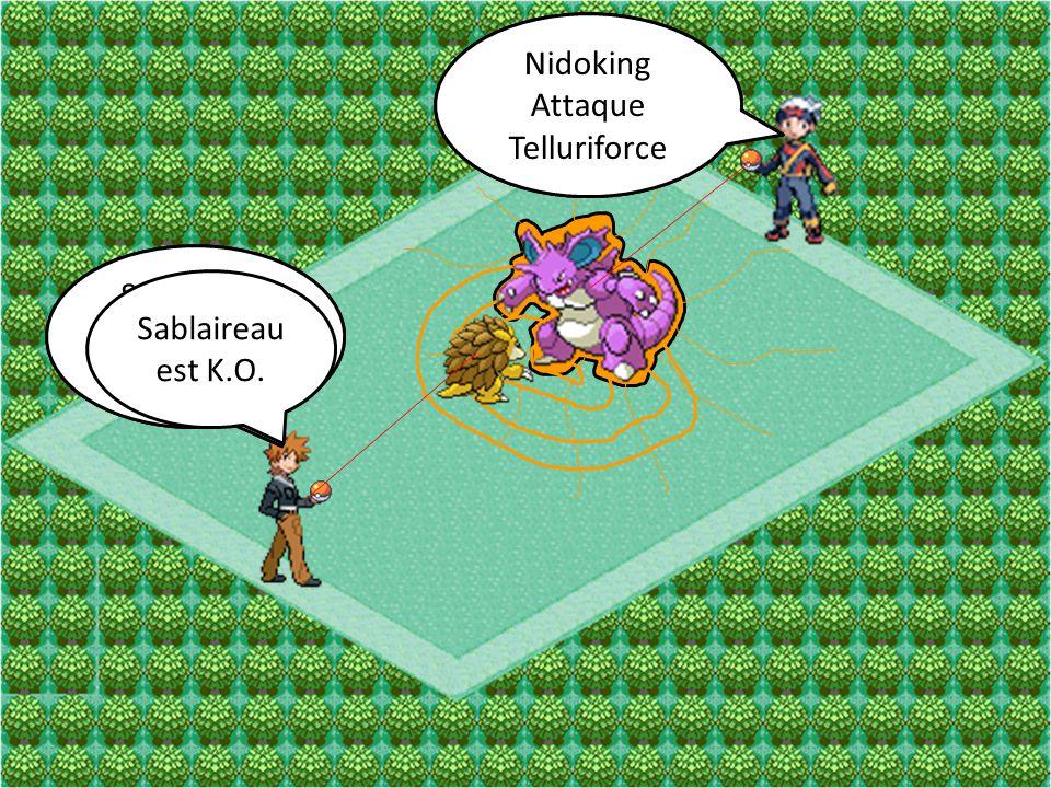 Nidoking Attaque. Double-Pied. Nidoking. Attaque. Telluriforce. Sablaireau. Attaque. Tourbi-Sable.