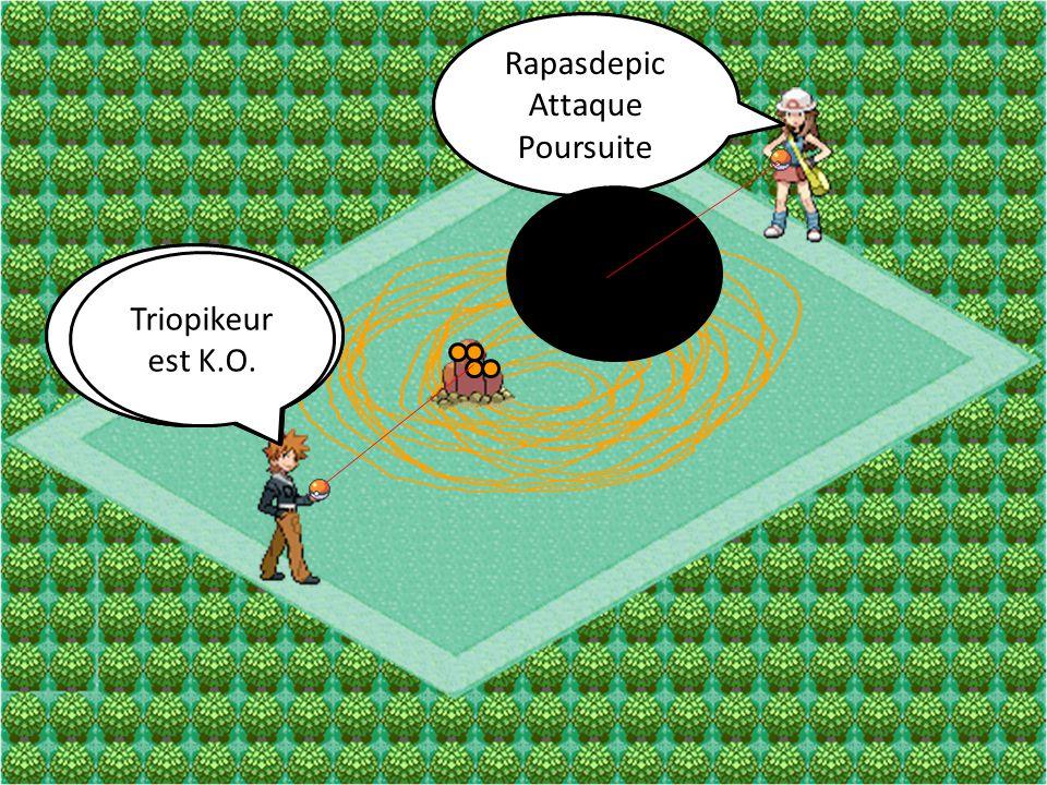 Rapasdepic Attaque. Furie. Rapasdepic. Attaque. Poursuite. Triopikeur. Attaque. Tourbi-Sable.