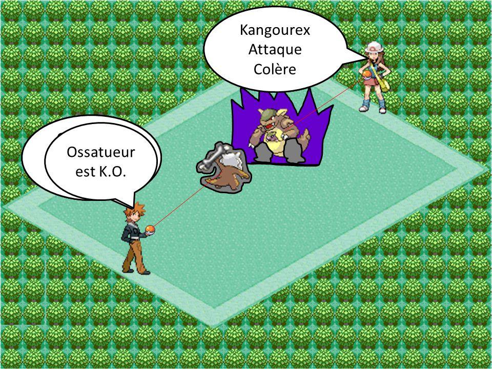 Kangourex Attaque. Coup Double. Kangourex. Attaque. Colère. Ossatueur. Attaque. Damoclès. Ossatueur.