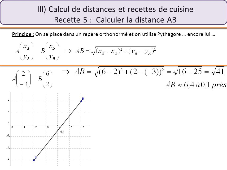 calcul distance coordonnees