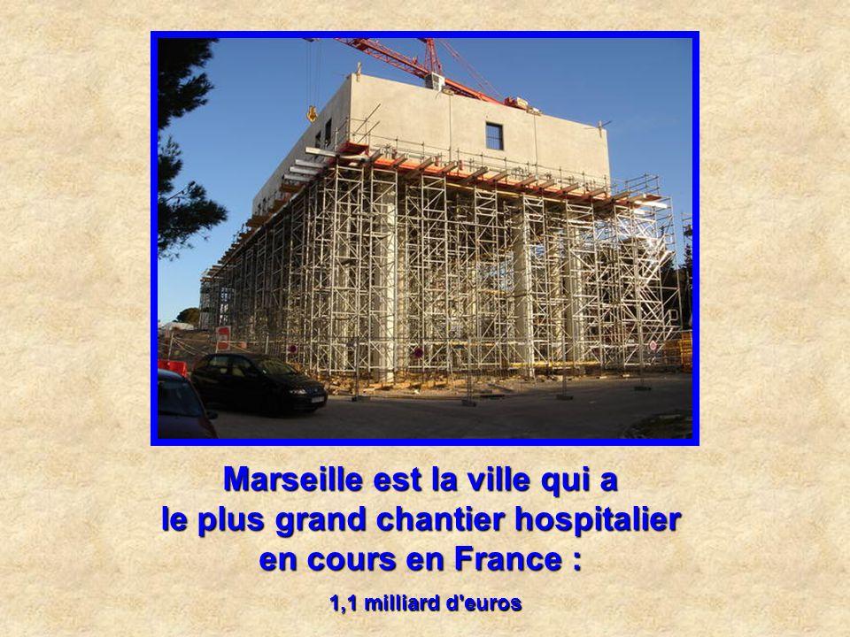 Marseille est la ville qui a le plus grand chantier hospitalier