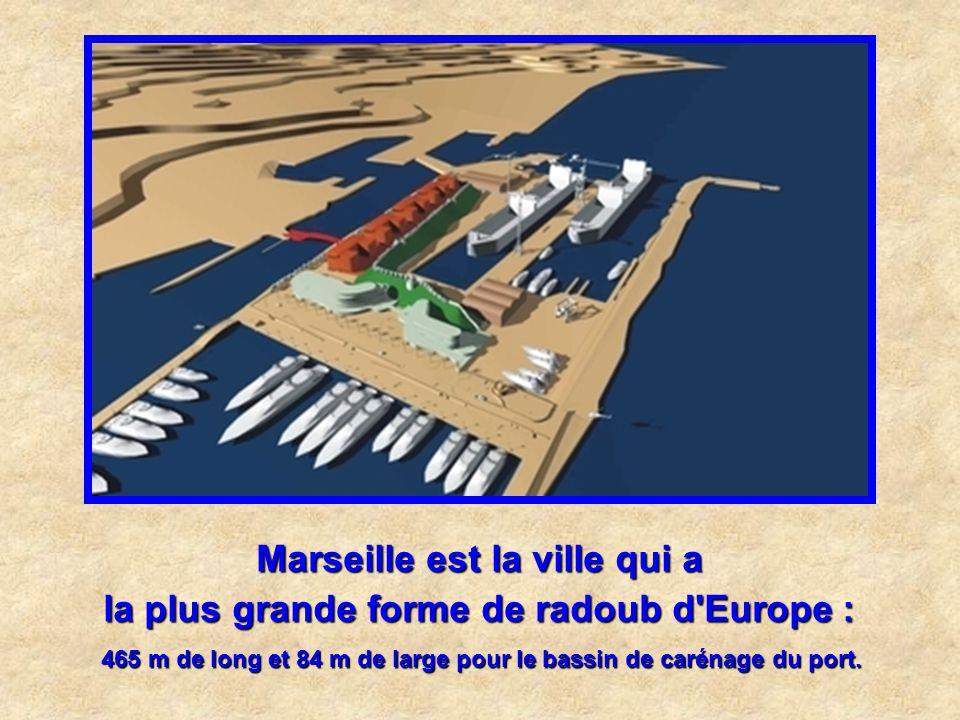 Marseille est la ville qui a la plus grande forme de radoub d Europe :