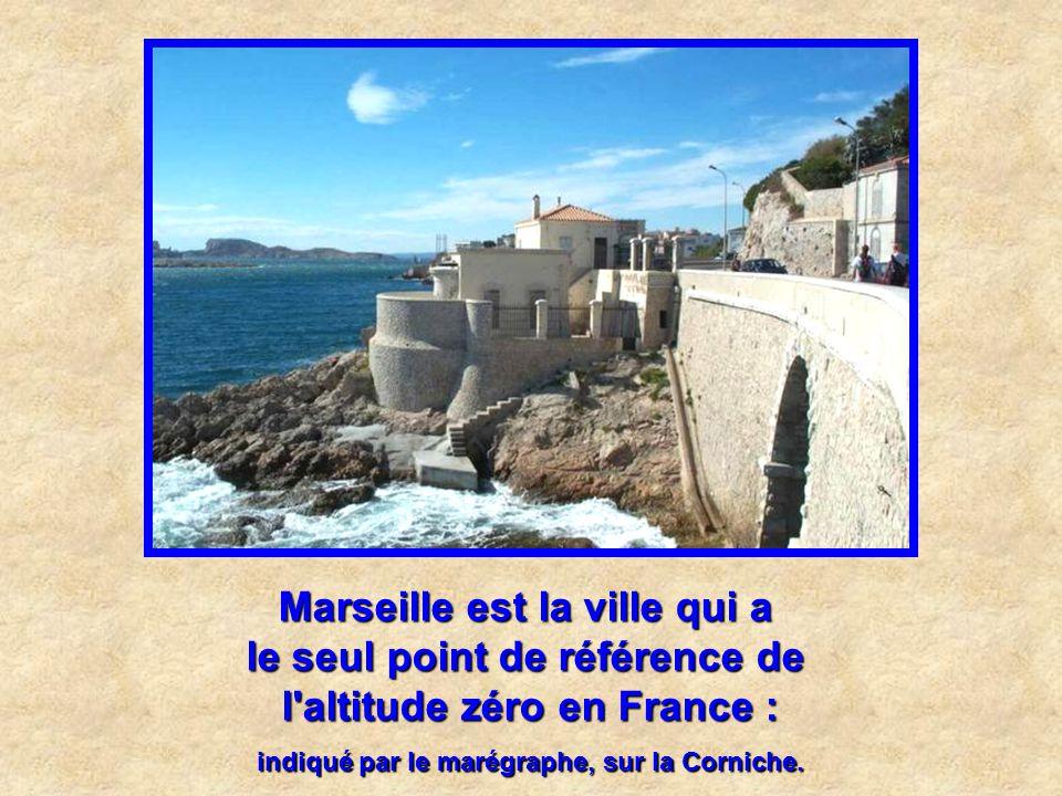 Marseille est la ville qui a le seul point de référence de