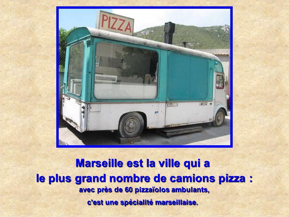 Marseille est la ville qui a le plus grand nombre de camions pizza :