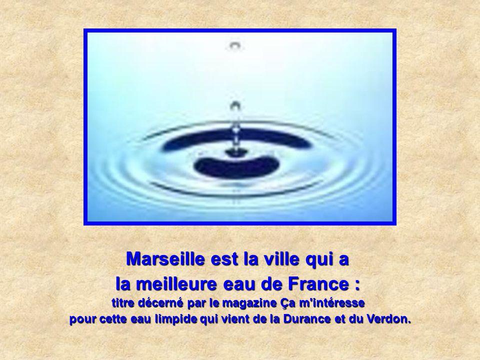 Marseille est la ville qui a la meilleure eau de France :