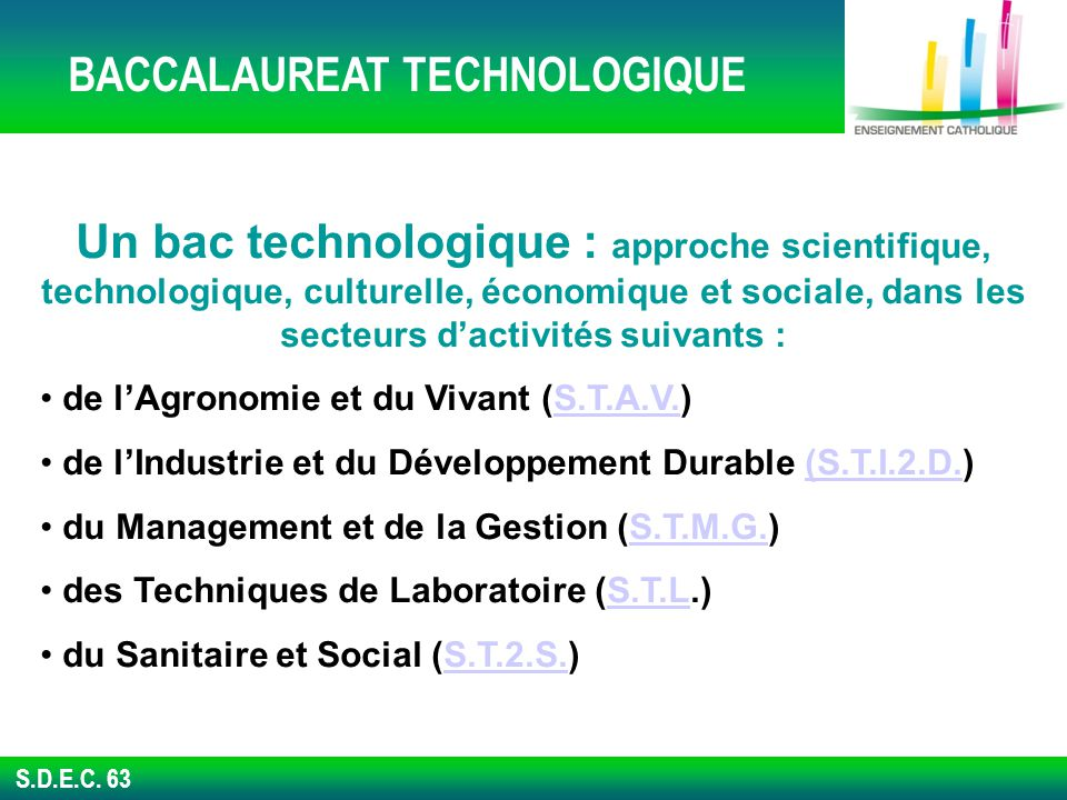 BACCALAUREAT TECHNOLOGIQUE