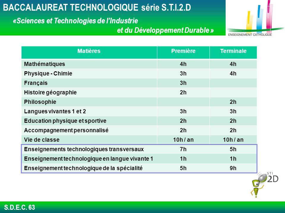 BACCALAUREAT TECHNOLOGIQUE série S.T.I.2.D