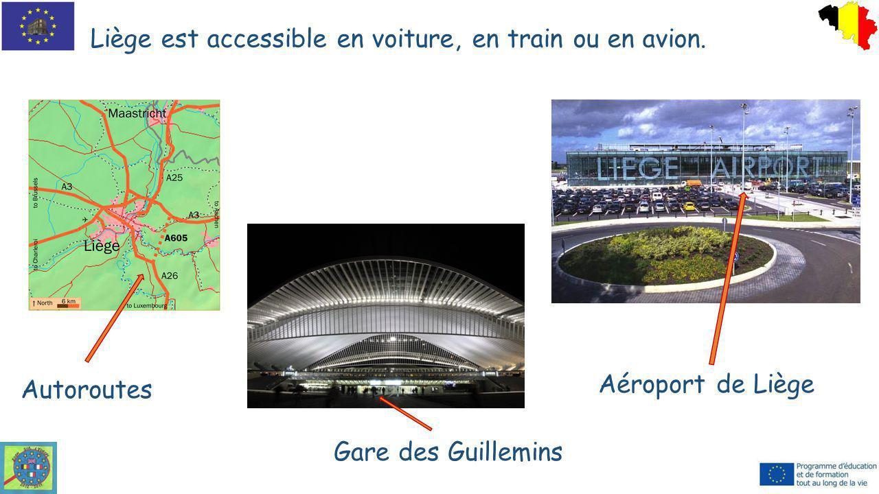 Liège est accessible en voiture, en train ou en avion.