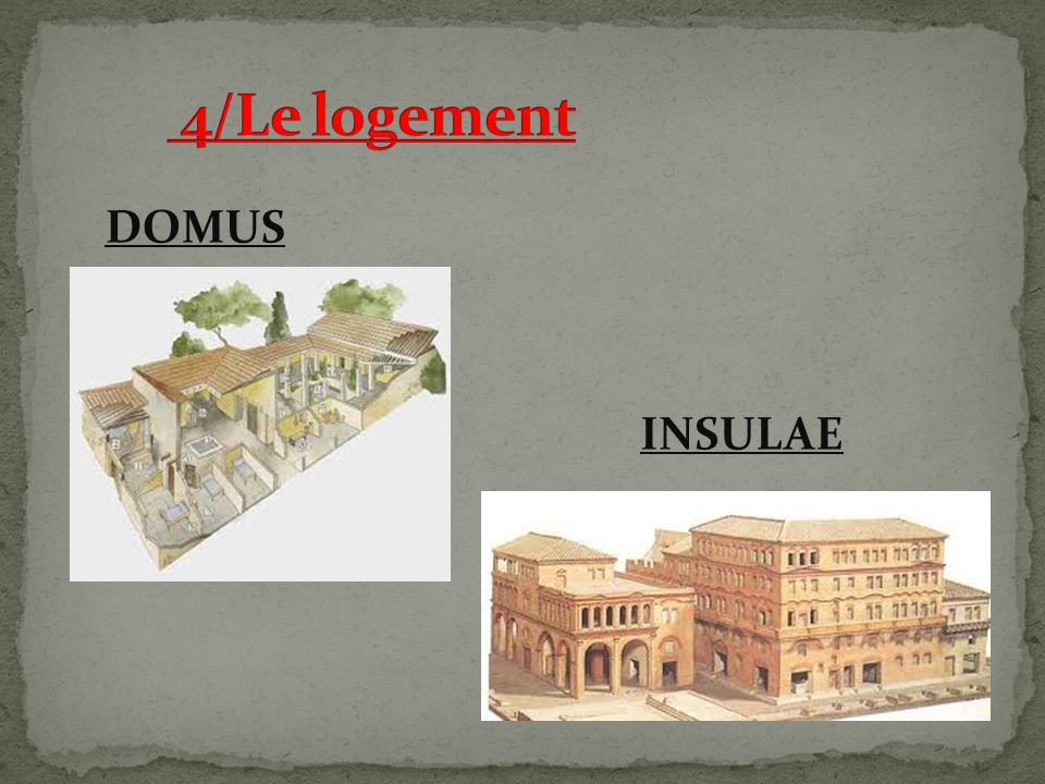 4/Le logement DOMUS INSULAE
