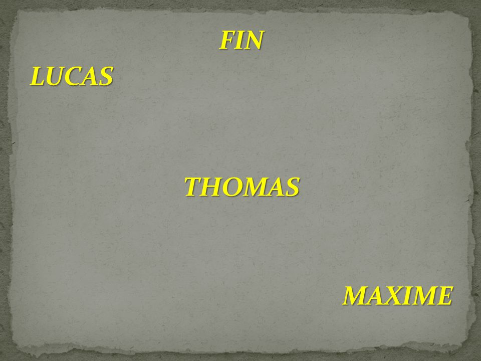 FIN LUCAS THOMAS MAXIME