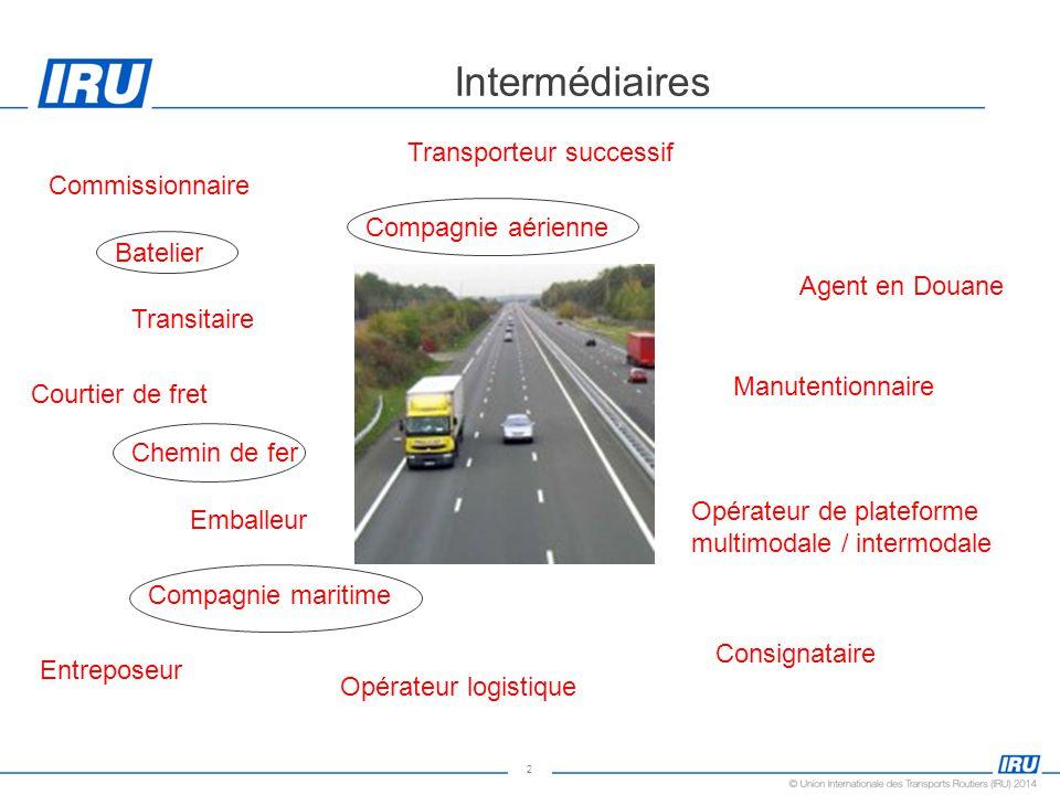 Intermédiaires Transporteur successif Commissionnaire