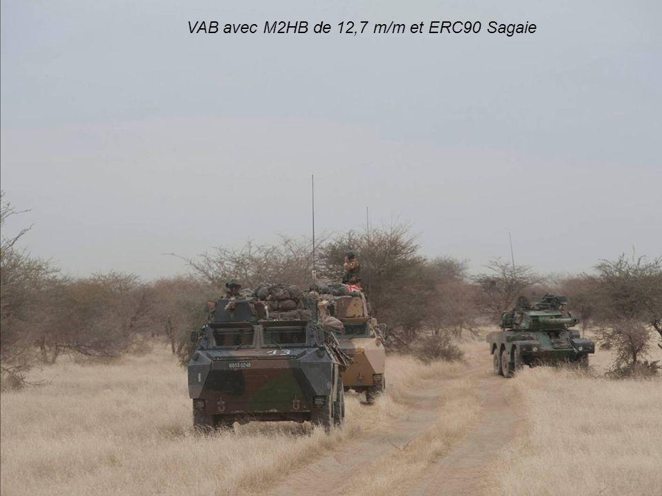 VAB avec M2HB de 12,7 m/m et ERC90 Sagaie