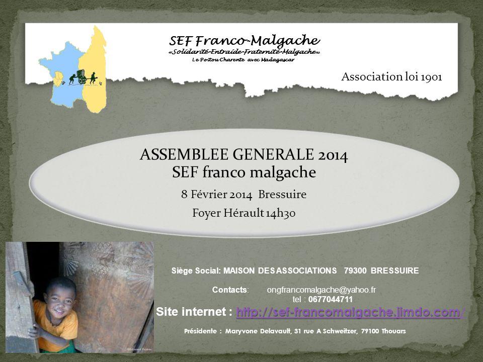 ASSEMBLEE GENERALE 2014 SEF franco malgache