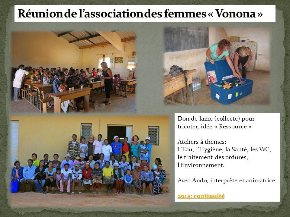 Réunion de l'association des femmes « Vonona »