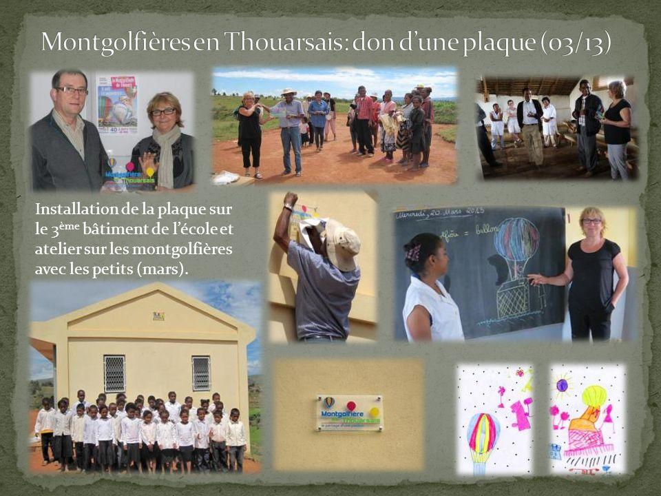 Montgolfières en Thouarsais: don d'une plaque (03/13)