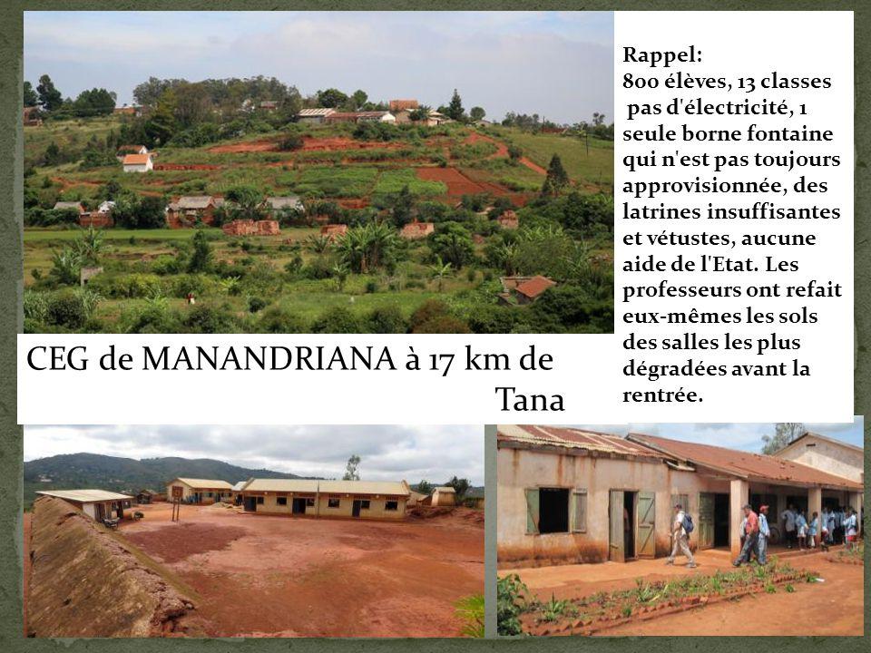 CEG de MANANDRIANA à 17 km de Tana
