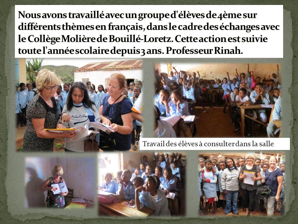 Nous avons travaillé avec un groupe d élèves de 4ème sur différents thèmes en français, dans le cadre des échanges avec le Collège Molière de Bouillé-Loretz. Cette action est suivie toute l année scolaire depuis 3 ans. Professeur Rinah.