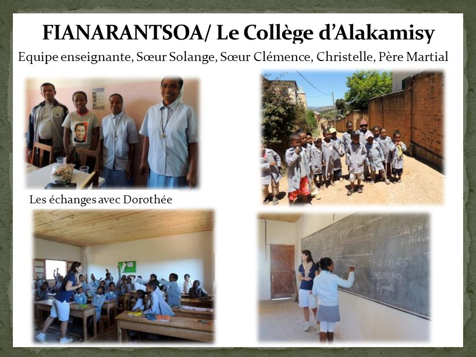 FIANARANTSOA/ Le Collège d'Alakamisy