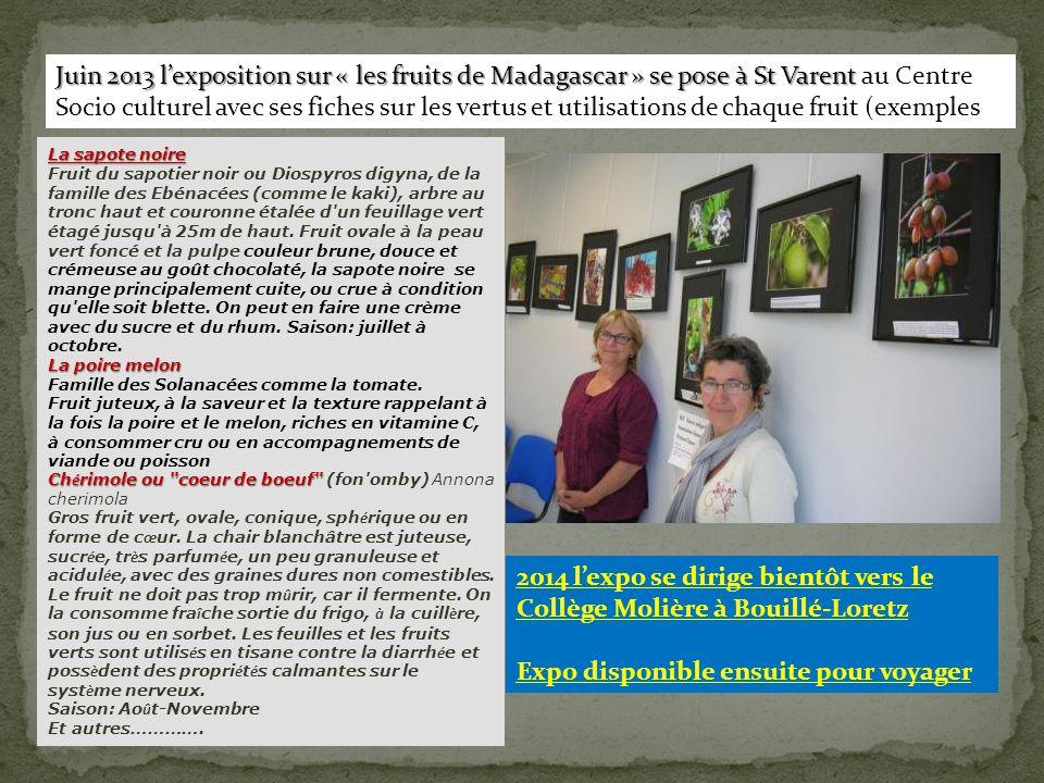 2014 l'expo se dirige bientôt vers le Collège Molière à Bouillé-Loretz