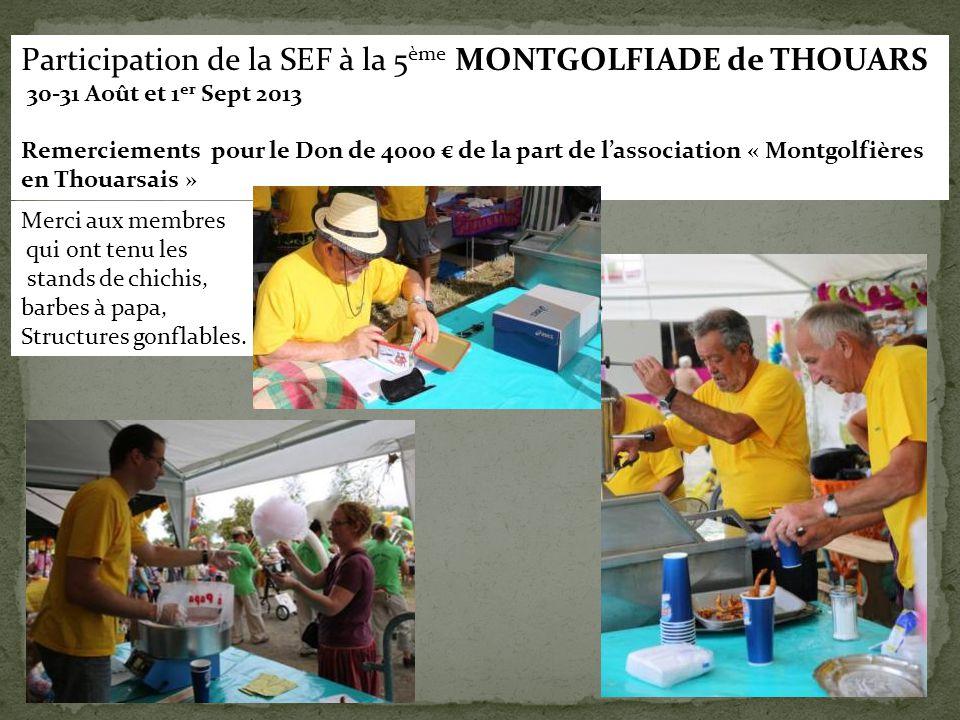 Participation de la SEF à la 5ème MONTGOLFIADE de THOUARS