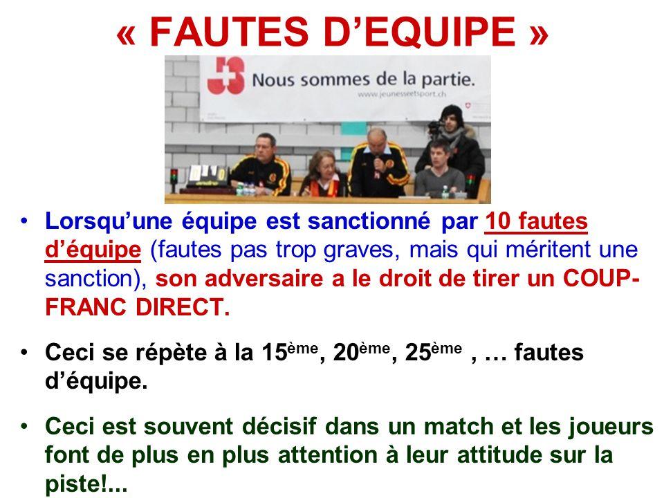 « FAUTES D'EQUIPE »